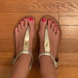 Tommy Hilfiger Gold sandals